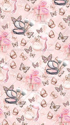 Bling Wallpaper, Butterfly Wallpaper, Apple Wallpaper, Tumblr Wallpaper, Pattern Wallpaper, Iphone Wallpaper, Pretty Pictures, Art Pictures, Makeup Themes
