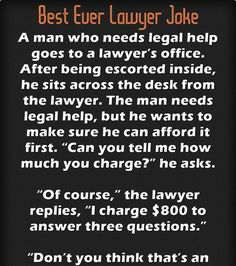 Lawyer's Three Questions – Jokes Jelly Lawyer Office, He Wants, Great Stories, Jelly, Laughter, Hilarious, Jokes, This Or That Questions, Chistes