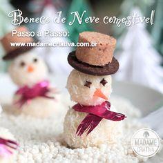 5 melhores ideias de sobremesas decoradas para o Natal - Receita e passo a passo com fotos - Doces natalinos - 5 cutest ideas for Christmas dessert