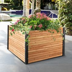 Coral Coast Wood Raised Garden Bed - 48W x 48D x 29H in. - Raised Bed & Container Gardening at Hayneedle