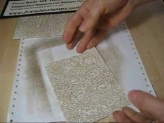 Double Distressed Waxed Paper Technique Using Tim Holtz Texture Fades - YouTube