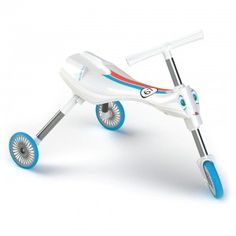 Scuttlebug Zoom in White/Blue - Folding Toddler Trike Free Samples Uk, Freebies Uk, Plastic Forks, Uk Deals, Ride On Toys, Tricycle, Cool Kids, Kids Toys, Baby Strollers