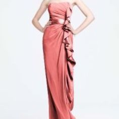 Coral Bridesmaid Dress. Worn Once.
