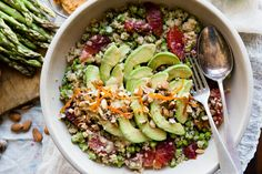 Blood Orange Asparagus Salad with Miso Dressing. I could eat this RIGHT NOW.