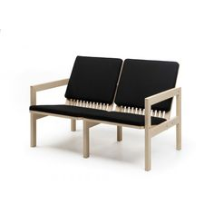 Nikari Oy, founded in manufactures high quality wooden furniture and furnishings. Chaise Sofa, Couch, Wooden Furniture, Furniture Design, Sustainable Design, Sofa Design, Dining Bench, Lounge, Design Inspiration