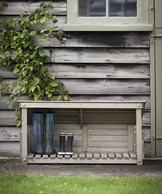 outdoor shoe storage for wellington and walking boots