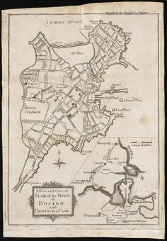 A new and correct plan of the town of Boston, and provincial camp /  1775