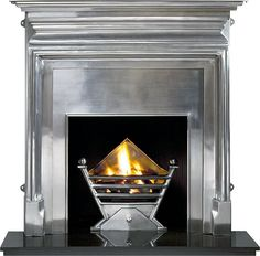 Art Deco Polished (gas) | The Fireplace in East Lothian, Fireplaces in Edinburgh, Wood Burning Stoves