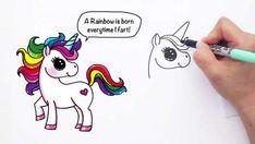 How to Draw a Cartoon Unicorn Farting Easy and Cute – Hildur.K.O