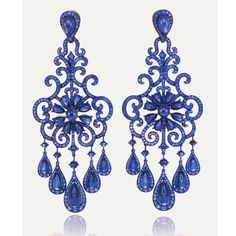 @diamondgirl1975 Cascades of #sapphires by @chopard  #chopard #jewelry #gems #craftmanship #art #masterpiece #earrings #blue #luxury