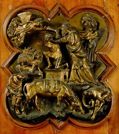 Filippo Brunelleschi: Sacrifice of Isaac (1401-3) Bronze.