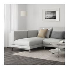 IKEA - NOCKEBY, Sectional, 3-seat left, left/Tallmyra rust, wood, , You get extra soft comfort and support because the thick seat cushions have a core of pocket springs and a top of cut foam and polyester fibers.The core of pocket springs is durable and keeps its form and soft comfort for a longer time.There's plenty of room for everyone to sit comfortably thanks to the sofa's spacious design.The cover is easy to keep clean as it is removable and can be machine washed.10-year limited…
