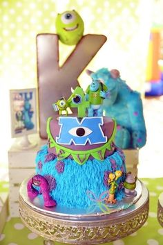 monsters university boy's birthday cake but my daughter says she wants her next birthday cake like this one Buu Monster Inc, Monster Inc Cakes, Monster University Cakes, Boy Birthday Parties, Birthday Cakes, Birthday Ideas, Movie Cakes, Character Cakes, Disney Cakes