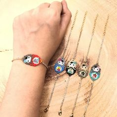 2018 New Fashion Women Cute Doll Boho Charm Bangles Crystal Bracelets Impor . Metal Bracelets, Crystal Bracelets, Crystal Beads, Beaded Animals, Strand Bracelet, Bead Art, Gold Chains, Beaded Jewelry, Jewelry Accessories