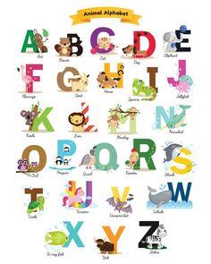 19 Free Nursery Printables - Grab Yours Today! Free Alphabet Print for kids room Free Printable Alphabet Letters, Alphabet For Kids, Printable Wall Art, Printable Quotes, Printable Pictures, Alfabeto Animal, Animal Art Projects, Free Art Prints, Nursery Wall Art
