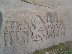 Hanuman meeting Lord Rama ,HAMPI