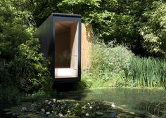 This place in Hampshire (Forest Pond House by TDO Architecture) sits over a lake, with the purpose of being a play spacee for a child. I love its serene subtlety.