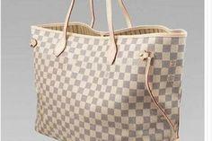 $105 - New NEW, Louis Vuitton, AZUR, Classic, Neverfull,GM, Brown ,  Handbag, Purse, Tote, Bag ,LV