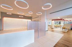 Capital One Franklin Cafe Renovation - Entrance Area. Design by Mitchell Associates.
