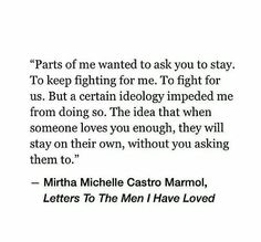 Mirtha Michelle Castro Marmol: Letters To The Men I Have Loved