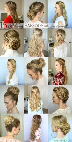 Tomorrow is Christmas Eve so I wanted to do a really quick roundup of some of my very favorite hairstyles from the past year. I think any of these would be so perfect for that last minute holiday party or even for New Year's Eve!…