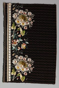 Embroidery sample for a man's suit - 1800-1815 - Metropolitan Museum of Art