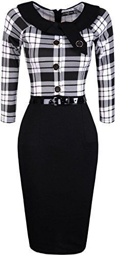 Jeansian Mujer Dama De Oficina Elegante Manga Larga Delgado Vestidos Women Elegant Office Lady Slim Gowns with Belt Long Sleeves WKD189 Black M Jeansian https://www.amazon.es/dp/B01A30OLWO/ref=cm_sw_r_pi_dp_76G6wbTREX4ZS