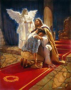 Likewise, I say unto you, there is joy in the presence of the angels of God over one sinner that repents. -- So, sê Ek vir julle, is daar blydskap voor die engele van God oor een sondaar wat hom bekeer.  Luk_15:10