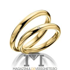 verigehte MDV02 gold #verighete #verighete3mm #verigheteaur #verigheteaurgalben #magazinuldeverighete Bangles, Bracelets, Diamond Wedding Rings, Engagement Rings, Unique, Gifts, Jewelry, Germania, Karate