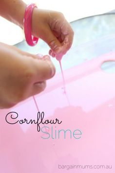 how to make slime with cornflour and water only