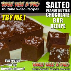 SALTED PEANUT BUTTER CHOCOLATE BAR RECIPE ►►► CLICK PICTURE for video recipe
