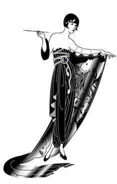 Erte Flapper #GreatGatsby #hiddenobject #OysterWorld #TheGreatGatsby