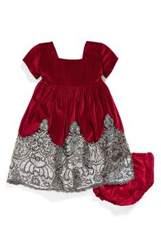 Isabel Garreton Sequin Velvet Dress (Baby Girls)  c47d697c5