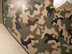 This is the camo wall I did in my boys bedroom