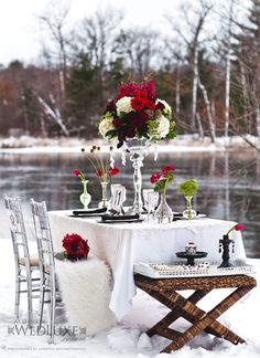 beautiful winter table