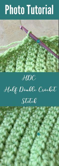 Half double crochet stitch photo tutorial   HDC photo tutorial   crochet basics   learn to crochet   how to crochet half double crochet   learn to HDC   HDC crochet tutorial   HDC crochet stitch