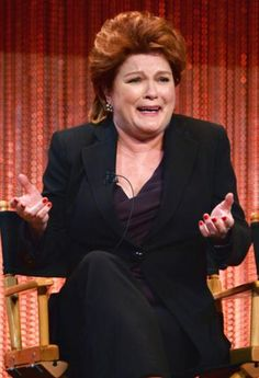 Kate Mulgrew -on stage interacting with the audience on something for Media's PaleyFest 2014 Honoring 'Orange Is The New Black'
