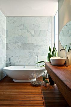 Teak Bathroom - modern - bathroom - toronto - Andrew Snow Photography