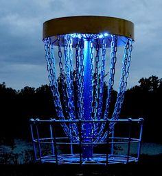 Set of 2 LED Lights for Disc Golf Basket