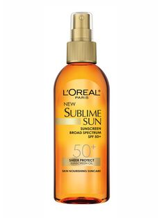 The 10 Best Sunscreens for Summer 2013: Skin Care: allure.com. Like any spray it's easy to apply—a spritz, quick rub and you're all set. But unlike other sprays, this one is an oil so it gives your skin a soft sheen that reflects in the light in a really petty, subtle way (not shimmery or greasy). Plus, it includes natural moisturizing antioxidant oils, like argan, which absorb quickly and are rich in omega 3s.