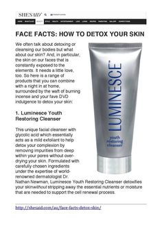 Luminesce Cellular Rejuvenation Serum Restore youthful vitality and radiance to the skin and reduces the appearance of fine lines and wrinkles Latina, Skin Detox, Glycolic Acid, Facial Cleanser, Anti Aging Skin Care, Natural, Just In Case, Cosmetics, Makeup Eraser