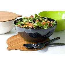 Eco Bamboo Salad Bowl Set