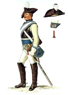 SOLDIERS- Menzel: SYW- Prussia: Prussian Leib-Karabinier-Regiment No 11, by Adolph Menzel.