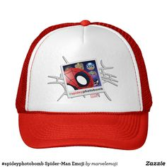 Shop Spider-Man Emoji Trucker Hat created by marvelemoji. Big Design, Your Design, Emoji Design, Rocket Raccoon, Marvel, Custom Hats, Comic Book Characters, Hulk, Spiderman