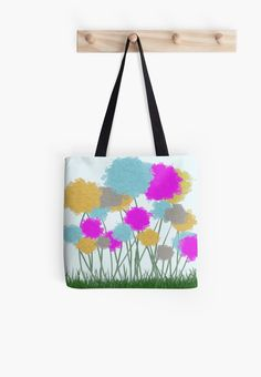 Splat Painted Flowers Tote Bag by #OneArtsyMomma @redbubb