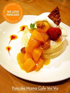 """Miss mango pancake from """"pancake mama cafe Voi Voi"""" from Japan"""