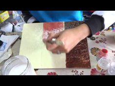 "Manualidades: Diferentes Tecnicas De Craquelado - By: ""Taller Dnella'' - YouTube Painting Tips, Painting Techniques, Diy Videos, Craft Videos, Diy Recycle, Art Tutorials, Stencils, Make It Yourself, Crafty"