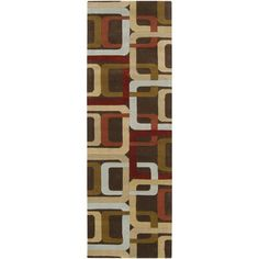 Zipcode Design Dean Brown Area Rug Rug Size: 2' x 3'