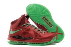detailed look e052b 015c9 Nike Lebron X 10 Christmas Red Green Style 541100 600 Retro Onlin