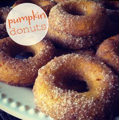 NEST + NOURISH with pumpkin donuts - easy for kids to help with